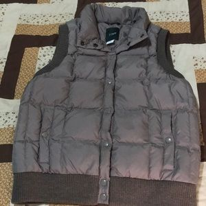 J Crew Brown Puffer Vest Very Cute And Stylish